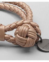 Bottega Veneta - Natural Rame Met Intrecciato Nappa Metallizzato Bracelet for Men - Lyst
