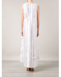 Thakoon | White Cape Back Dress | Lyst