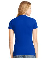 Polo Ralph Lauren - Blue Fitted Stretch Polo - Lyst