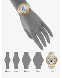 Saks Fifth Avenue - Metallic Round Goldtone Stainless Steel & Cream Patent Leather Strap Watch - Lyst