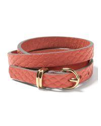 Banana Republic | Pink Leather Triple-wrap Bracelet | Lyst
