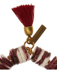 Isabel Marant - Red Fiji Beaded Tassel Bracelet - Lyst