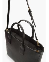 Mango | Black Plebbed Shopper Bag | Lyst