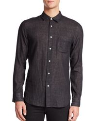 Rag & Bone | Black Beach Sportshirt for Men | Lyst