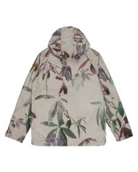 Paul Smith - Multicolor Ecru Digital Floral Print Hooded Jacket for Men - Lyst