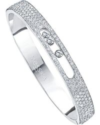 Messika - Metallic Move Joaillerie 18ct White-gold And Diamond Bangle - Lyst