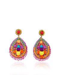 Ranjana Khan   Multicolor Embellished Drop Earrings   Lyst