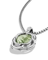 David Yurman | Metallic Labyrinth Medium Pendant With Prasiolite | Lyst