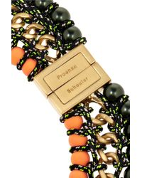 Proenza Schouler | Black Ladder Gold-Plated Necklace | Lyst