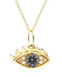 Delfina Delettrez | Metallic Diamond, Sapphire & Yellow-Gold Necklace | Lyst