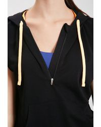 Forever 21 | Black Active Zipper Drawstring Hoodie You've Been Added To The Waitlist | Lyst
