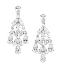 Adriana Orsini | Metallic Sparkle Chandelier Earrings | Lyst