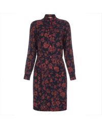 Paul Smith - Multicolor Women'S Navy 'Scribble Floral' Print Shirt-Dress - Lyst