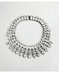 Noir Jewelry - Metallic Clear and Black Crystal Tiered Collar Necklace - Lyst