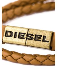 DIESEL - Natural Braided Bracelet for Men - Lyst