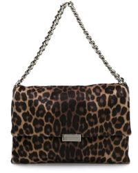 Stella McCartney - Black 'beckett' Leopard Shoulder Bag - Lyst