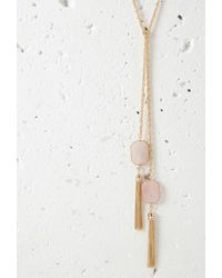 Forever 21 | Metallic Faux Stone Wrap Necklace | Lyst
