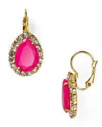 Carolee | Pink Rio Radiance Teardrop Earrings | Lyst