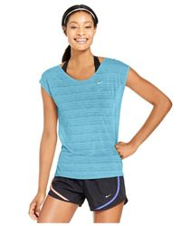 Nike | Blue Cool Breeze Dri-fit Cap-sleeve Tee | Lyst