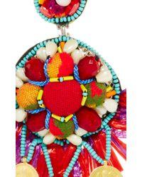 Ranjana Khan | Red Coin Embellished Drop Earrings | Lyst