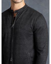 John Varvatos - Black Wool Glen Plaid Jacket for Men - Lyst
