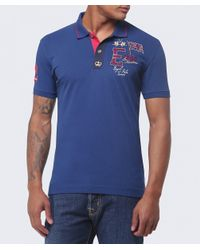 La Martina | Blue Slim Fit Guards Polo Shirt for Men | Lyst