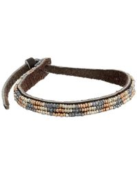 Chan Luu - Metallic Adjust Beaded Pattern Single Bracelet - Lyst