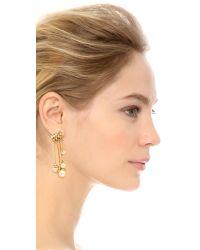 Rebecca Minkoff - Metallic Satellite Drop Earrings - Gold/Pearl - Lyst