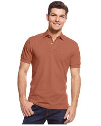 Tommy Hilfiger - Brown Custom-fit Ivy Polo for Men - Lyst