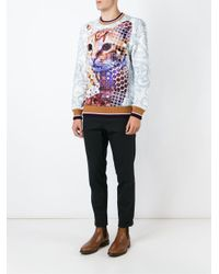 Etro - Blue Cat Print Sweatshirt for Men - Lyst