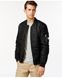 Wesc | Black Rami Quilted Zip-front Jacket for Men | Lyst