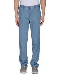 Barbour - Blue Denim Trousers for Men - Lyst