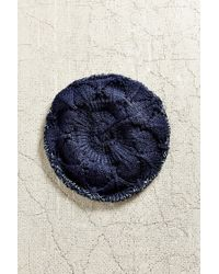Urban Outfitters - Blue Ombre Rolled Edge Beret - Lyst