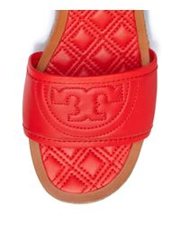 Tory Burch - Red Fleming Espadrille Slide - Lyst