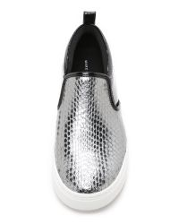 Marc By Marc Jacobs - Metallic Broome Slip On Sneakers - Lyst