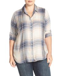 Lucky Brand | Blue 'bungalow' Plaid Button Back Shirt | Lyst