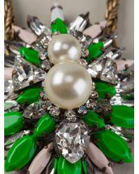 Shourouk - Green 'Leitmotiv Hindi' Necklace - Lyst