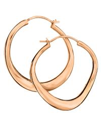 Dinny Hall | Pink Small Rose Gold-plated Wave Hoop Earrings | Lyst