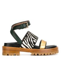 Marni | Black Strappy Sandals | Lyst