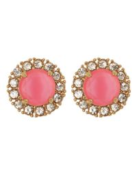 kate spade new york | Pink Secret Garden Stud Earrings | Lyst