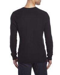 Izod | Black Fine Gauge V-Neck Sweater for Men | Lyst