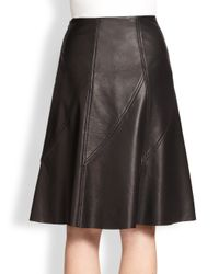 Rag & Bone - Black Kelly Pleated Leather Skirt - Lyst