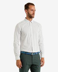 Ted Baker - White Ls Ghost Print Shirt for Men - Lyst