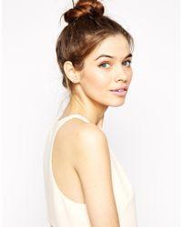 ASOS - Pink Double Faux Pearl Earrings - Lyst