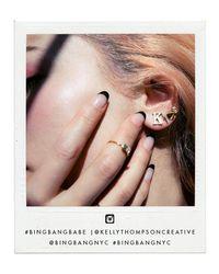 Bing Bang - Pink Crystal Skull Studs - Lyst