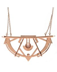 Bing Bang | Brown Crescent Bib Necklace | Lyst