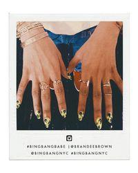 Bing Bang - Pink Peace Stacking Ring - Lyst