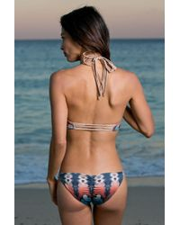 Water Glamour - Blue Inyo Braid Reversible Bottom - Lyst