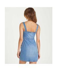 Billabong - Blue Coastline Dance Denim Dress - Lyst