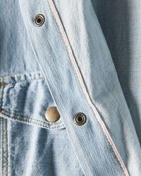 Billy Reid - Blue Denim Selvedge Shirt for Men - Lyst